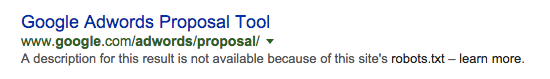 example of robots.txt in the serps