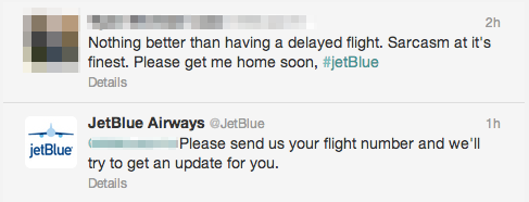 jet blue twitter example of brand protection unamo seo